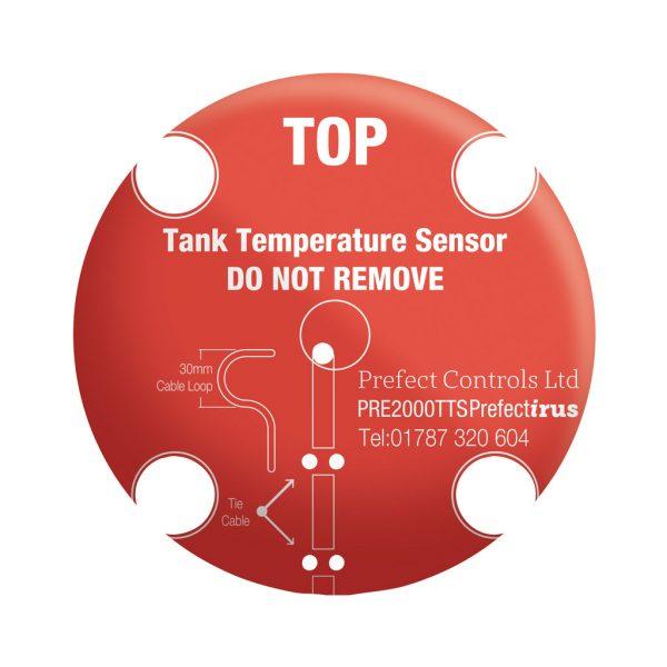 Top Temperature sensor label