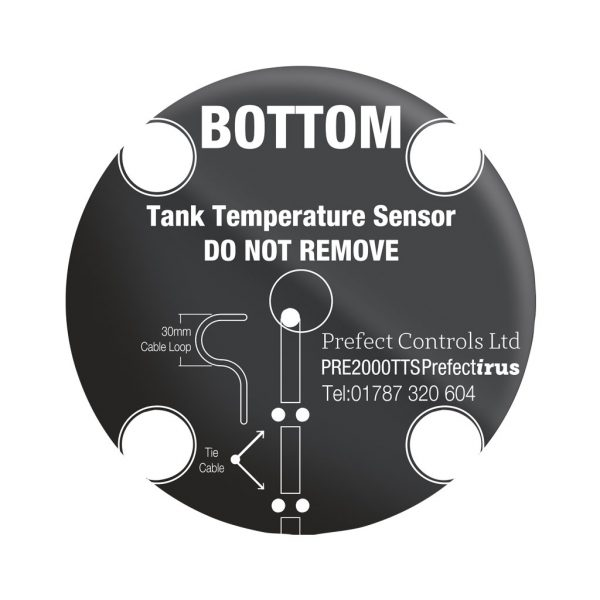 Bottom Temperature sensor label