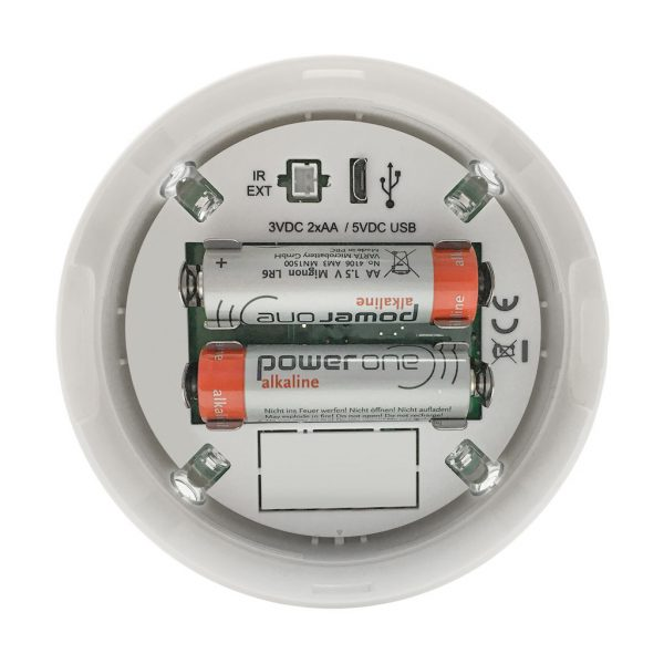 Battery view PRE7000 Flush-mount battery-powered infra-red A/C PIR auto on/off control
