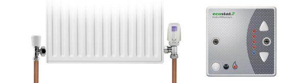 How Ecostat2 controls wet radiators
